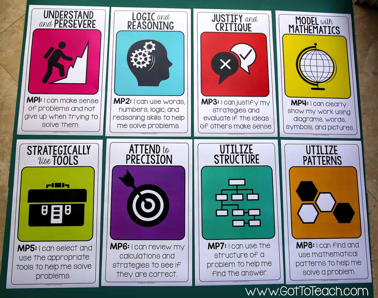 Standards for Mathematical Practices {Free Posters} • Teacher Thrive
