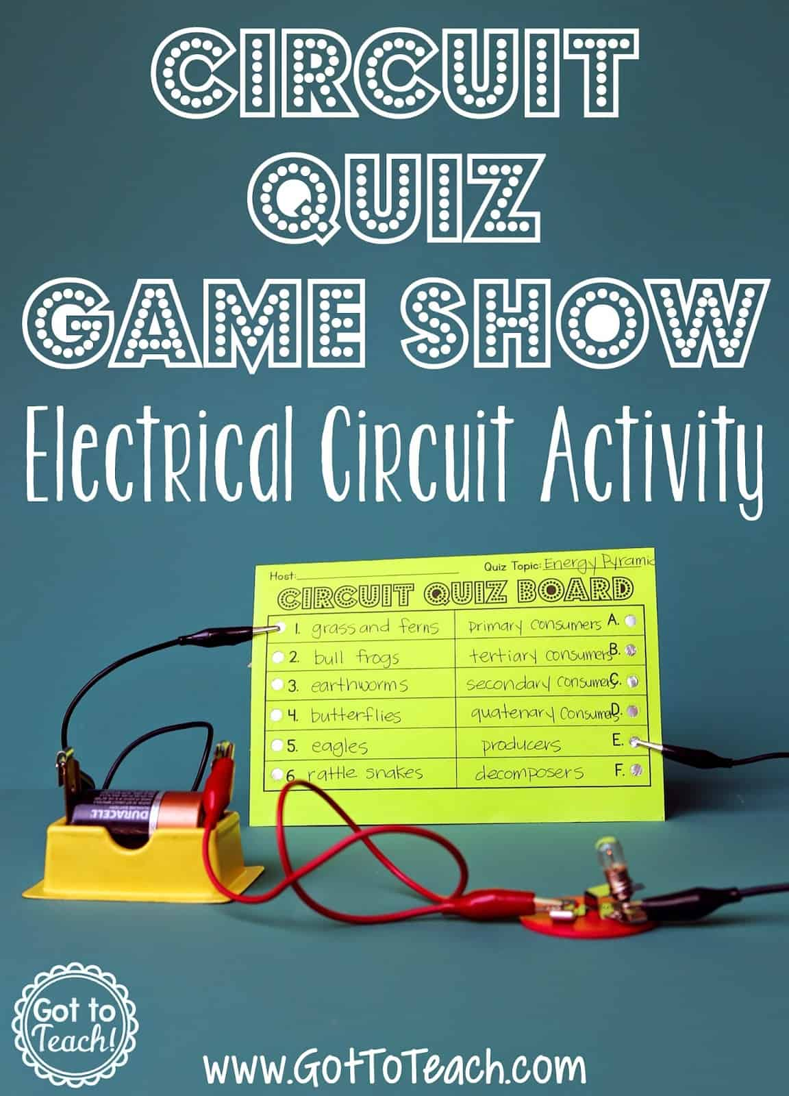 electrical circuit game show lesson • got to teach electrical circuit lesson plan 5th grade
