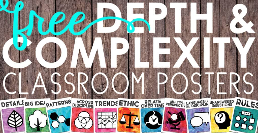 FREE Depth and Complexity Icon Posters