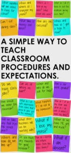 Teaching classroom procedures and expectations.