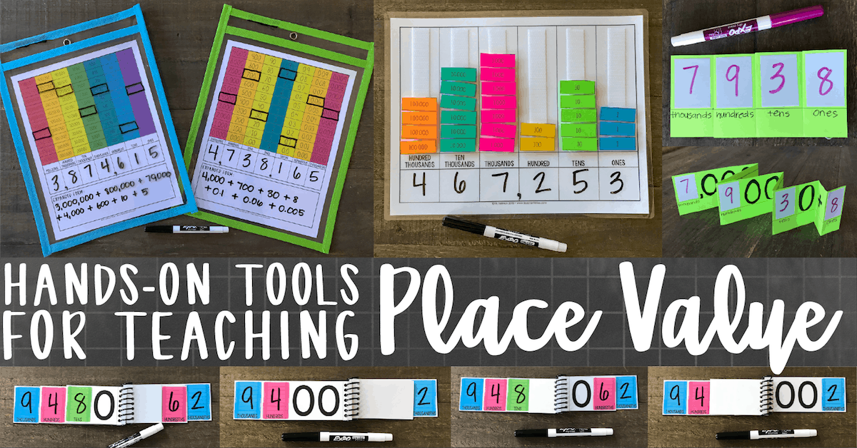 Hands On Activities For Teaching Place Value Teacher Thrive