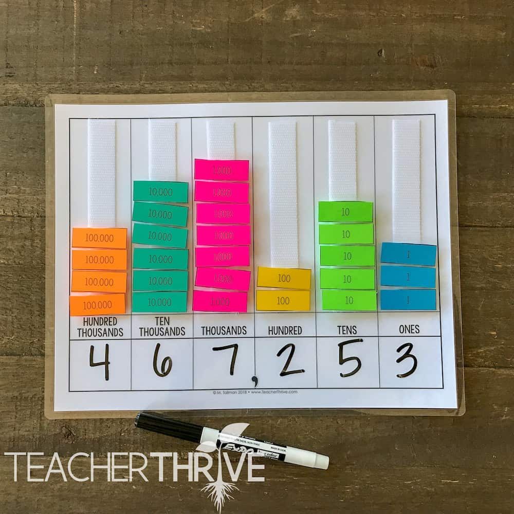 Hands-on activities for teaching place value