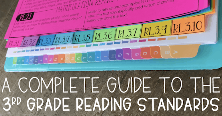 A Complete Guide to the Third Grade Reading Standards
