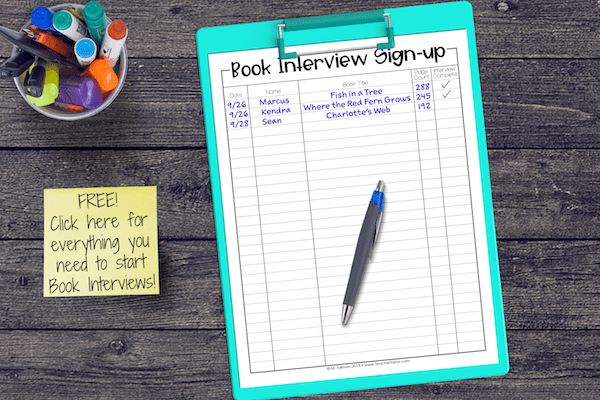 Encourage and monitor students' independent reading with book interviews.