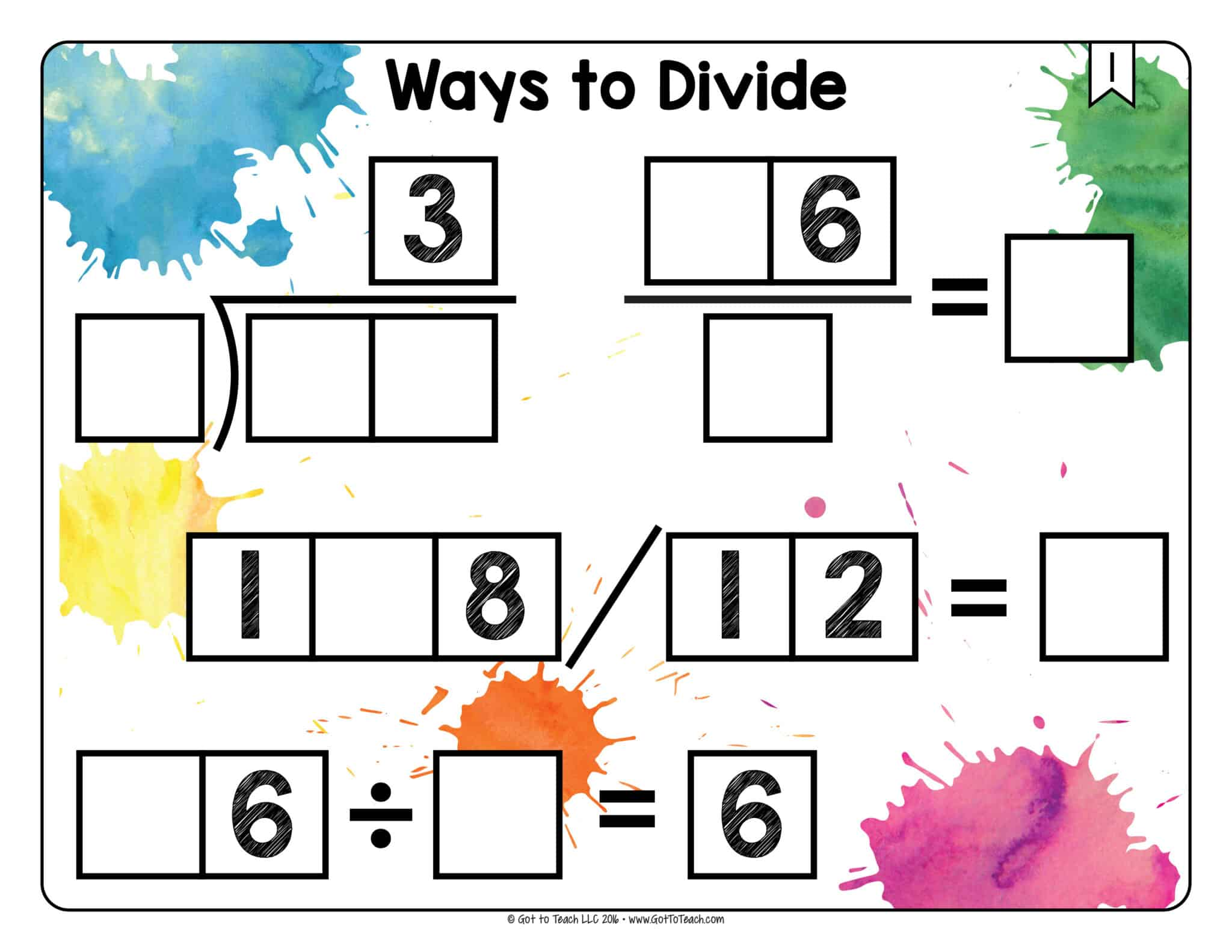 Ways to Divide