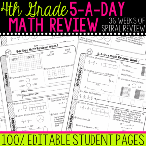 4th grade math review