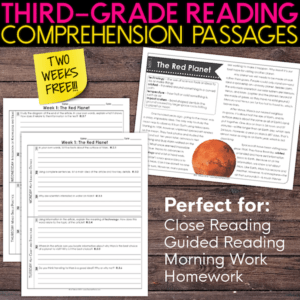 third grade reading comprehension