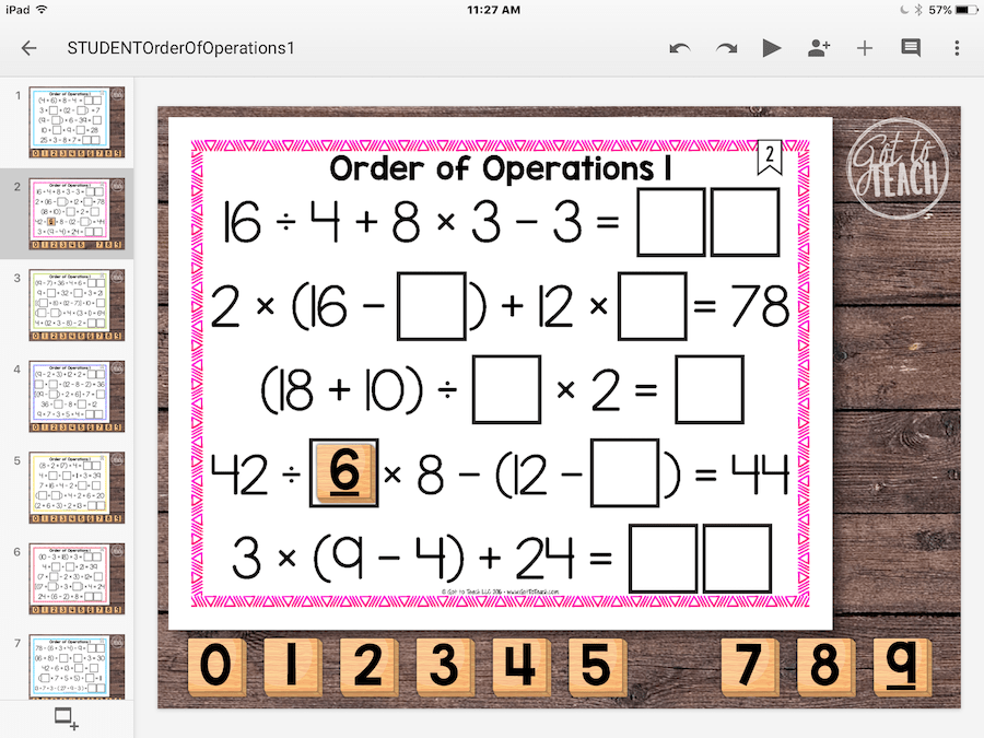 order operations