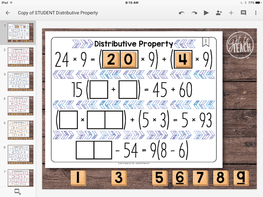 Distributive Property