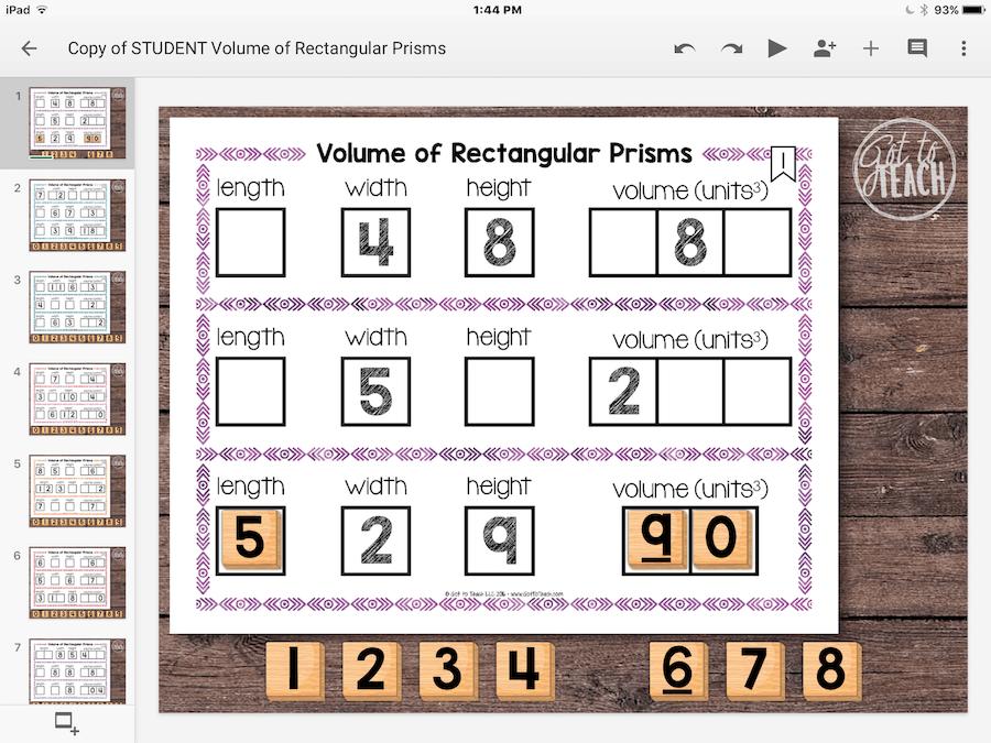 volume rectangular prisms