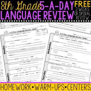 8th grade daily language review