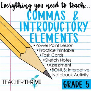 Commas and Introductory Elements