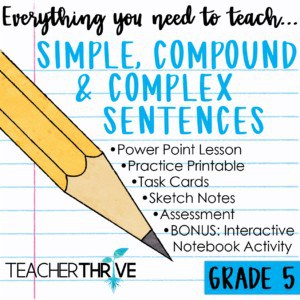Simple, Compound & Complex Sentences