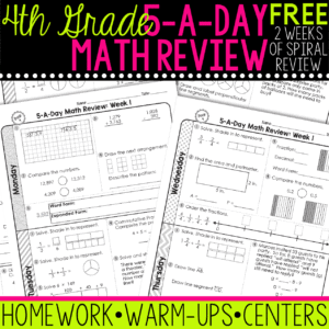 4th grade math spiral review