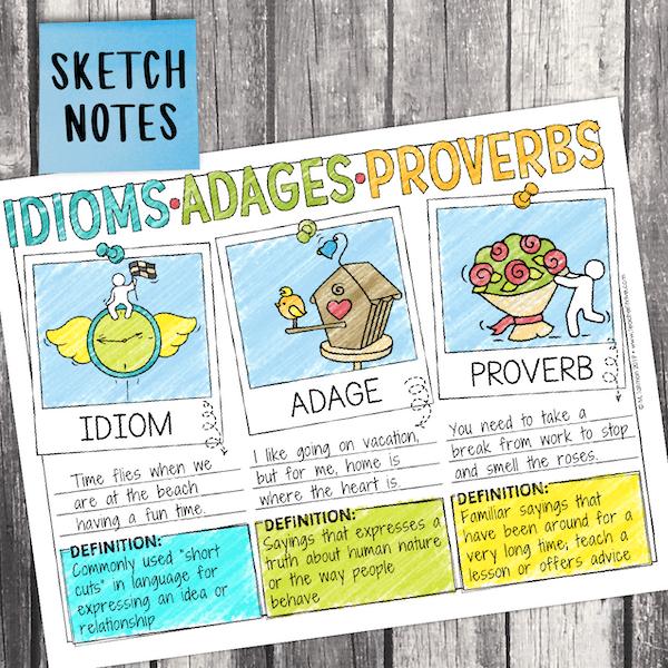 idioms adages proverbs