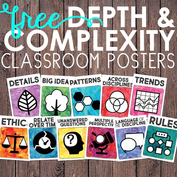 graphic relating to Depth and Complexity Icons Printable titled Cost-free Element and Complexity Icon Posters Instructor Realize success