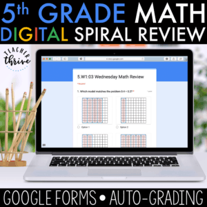 5th grade digital spiral review